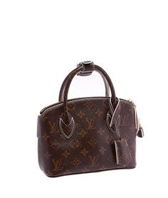 79ff8a86b23e Louis Vuitton Lockit Limited Edition Fetish Shiny Monogram Bb Autumn  2011-12 Collection (22161) Brown   Gold Coated Canvas Tote