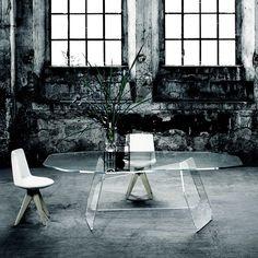 The glas italia quake table Luxury Dining Tables, Your Design, Interior Design, Studio, Chair, Create, Home Decor, Italia, Corning Glass