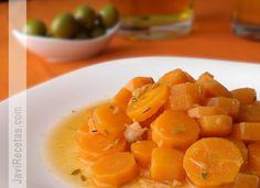 Zanahorias Aliñadas (seasoned carrots) Typical Andalucian side dish.