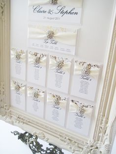 Marseille wedding seating plan in gold and ivory
