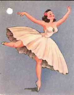 Vintage Ballerina Image by cindyiscrafty, via Flickr