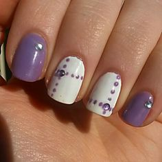Nail art lilla♡