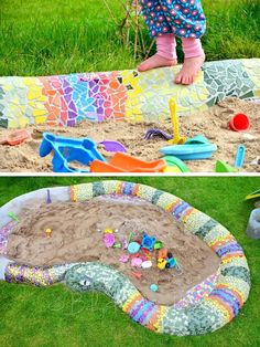 Easy and Cute DIY Mosaic Ideas for Garden and Yard - Neue Ideen Brick Flower Bed, Flower Bed Edging, Mosaic Crafts, Mosaic Projects, Mosaic Ideas, Mosaic Garden Art, Mosaic Art, Garden Yard Ideas, Garden Projects