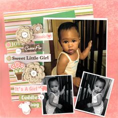 Sweet Little Girl  **Nuts About Sketches** - Scrapbook.com