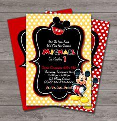 HUGE SELECTION Mickey Mouse Invitation And by MyCelebrationShoppe, $10.00