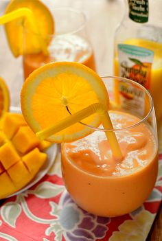 Pineapple, Mango & Orange Smoothie (with a secret ingredient!)