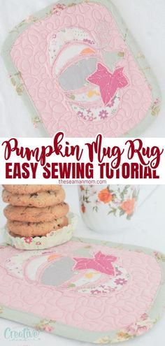 No need to go to the pumpkin patch to get yourself a cute gourd! Just sew a little pumpkin mug rug with this easy peasy tutorial for a quilted mug mat decorated with a pumpkin applique! #easypeasycreativeideas #sewing #quilting #applique #appliquepattern #pumpkinapplique #appliquetemplate #sewingtutorial #sewingpattern #sewingprojects #quiltingforbeginners Mug Rug Patterns, Sewing Patterns Free, Free Sewing, Easy Sewing Projects, Sewing Projects For Beginners, Sewing Tutorials, Mug Rug Tutorial, Pumpkin Template, Pumpkin Applique