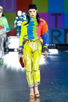 Dolce & Gabbana, Pop Art, Grunge, Boucle Jacket, Vogue Russia, Fashion Show Collection, Winter Collection, Live Fashion, Women's Fashion