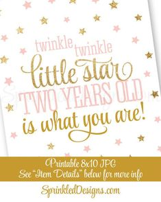 Twinkle Little Star One Year Old Is What You Are - Printable Boy First Birthday Decorations, Baby Blue Gold Glitter Decorations Sign FS 2 Year Old Birthday Party Girl, Second Birthday Ideas, Girls Birthday Party Themes, 1st Birthday Decorations, Twin First Birthday, 1st Birthday Invitations, 1st Birthday Quotes, Party Invitations, Birthday Crafts