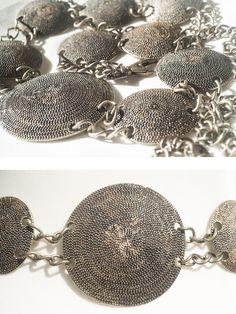 Items similar to Vintage round panels silver patina concho belt.Rare Beautiful and Unique ! on Etsy Vanilla Shop, Vintage Vogue Fashion, Concho Belt, Metal Belt, Bohemian Gypsy, Aztec, Trending Outfits, Small Businesses, Unique Jewelry