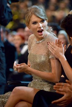 Taylor Swift at the 56th Annual GRAMMY Awards on Jan. 26 in Los Angeles