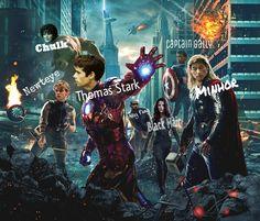 The Maze Runner Avengers AHHHH MINHO IS THOR AHHH - FANGIRL SCREAMS - Gally is CAPTAIN AMERICA - Screams -