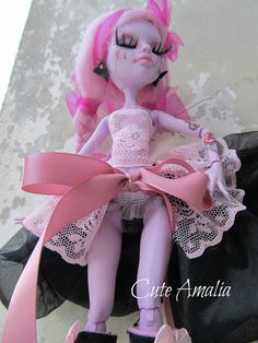 RESERVED BLANCA Monster high doll repaint by AlexandraSoury