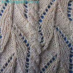 Узор для вязания спицами Тропическая лиана