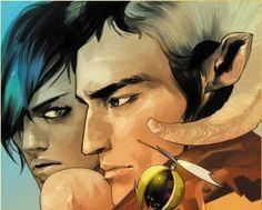 Saga graphic novels. For adults. SO good. Great art & storytelling!