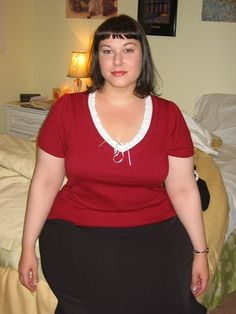 """Michelle is a beautiful curvy woman who is considered """"morbidly obese"""" by BMI standards (5'4""""  250  BMI 42.9). Again proving BMI is just horse excrement."""