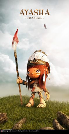 Indian Hero 3D Character