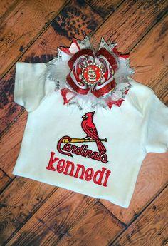 STL Cardinals Personalized Baby Onesie / St. Louis Cardinals Monogrammed Bodysuit / Baby Shower Gift