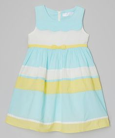 Love this Light Blue & Yellow Color Block Dress - Toddler & Girls by Little Anmy on #zulily! #zulilyfinds