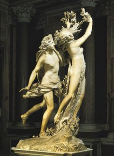 Apolo e Dafne, 1622-1625 Gian Lorenzo Bernini ( Itália, 1598-1680) Mármore branco, 243 cm altura Galeria Borghese, Roma