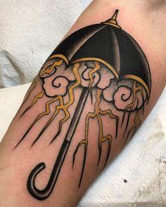 "1,942 Likes, 12 Comments - Jacob (@blackbearwhiskey) on Instagram: ""Broken umbrella for Aaron ☂️ Made @tildeathdenver. - - - - - - - #tattoo #tattoos #traditional…"""