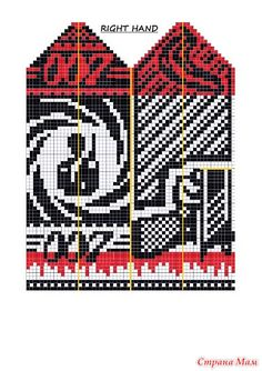 Такие варежки или носки можно связать в подарок боевому мужчине, время ещё есть. Бесплатное описание на ravelry.com Успехов! Knitted Mittens Pattern, Knit Mittens, Mitten Gloves, Knitting Socks, Knitting For Charity, Fair Isle Knitting, Knitting Charts, Knitting Patterns, Cross Stitch Harry Potter