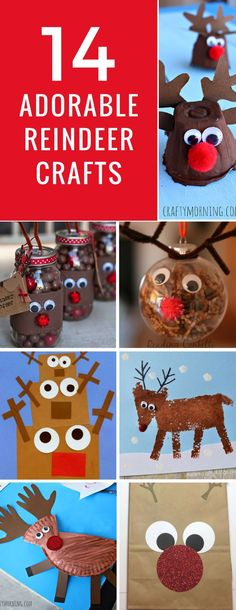 Loving these easy reindeer crafts for kids to make! So many different ways to make Rudolph and his pals this Christmas!