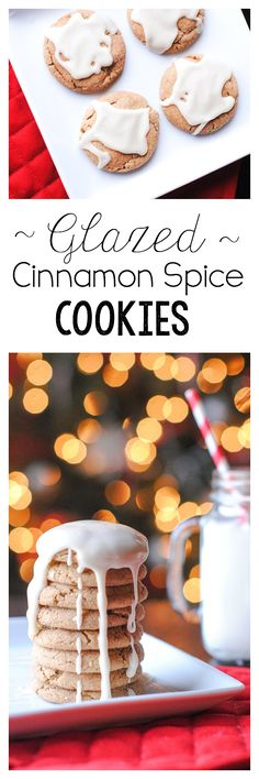 Glazed Cinnamon Spice Cookies