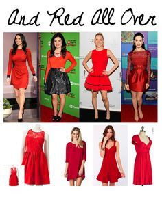 Take a que from celebs this holiday season and rock the red! A few of my favorite red party frocks include:  LC Lauren Conrad Fit N' Flare Dress (Kohls)//McKenzie Keyhole Shift Dress in Wine (ShopSosie) //Rose in Your Teeth Red Dress (Lulu's) //Be-Weave Me Dress (ModCloth)