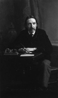 Robert Louis Stevenson~ His own life was nearly as colourful as his novels, culminating with his 3 long sea voyages in the Pacific and his ultimate settlement in Samoa.    Stevenson usually looks great-eyed and hollow-cheeked in pictures, and indeed was a lifelong sufferer of some chest-ailment - whether tuberculosis or bronchitis or another disease is unknown…    Robert Louis Stevenson, 1890s - platinum print, by Notman of Boston (NPG, London)