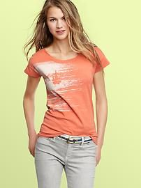 Love the grey jeans with coral top!
