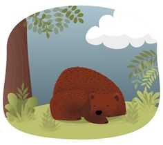 Sleeping bear Poster Prints, Posters, Bear, Illustration, Short Stories, Poster, Bears, Illustrations, Billboard