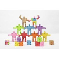 Juguete Decorativo De Madera Micro Verde Cubebot - $ 199.00