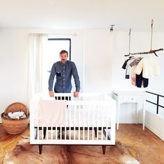 Mid century Scandinavian baby nursery