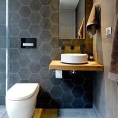 Hexagonaal Rewind grijs uni tegel 18,2 x 21 cm per m2 online bestellen - TEGELinfo