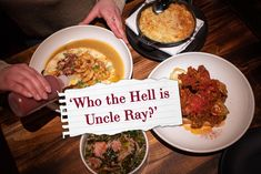 """Who the Hell is Uncle Ray?"" - The Deets on Toronto's New Soul Food Hot-Spot — The Canadian Creative Soul Food Restaurant, New Soul, Perfect Portions, Food Spot, Beef Ribs, Lunch Menu, Signature Cocktail, Menu Items, Deviled Eggs"