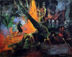 GAUGUIN  1891 – FÊTE, UPAUPA Ce tableau célèbre la musique et la danse
