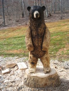 One of mark's earlier chainsaw bears with a burnt ombre effect