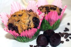 Muffins cerises et chocolat sans gluten
