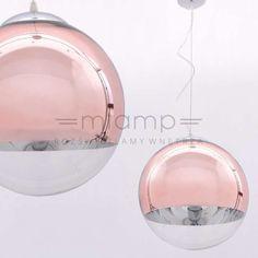 Szklana LAMPA wisząca IBIZA LDP 108 (R. GD) Lumina Deco okrągła OPRAWA zwis kula ball różowe złoto