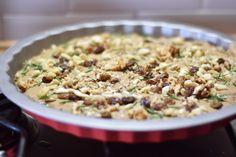 #receta #castagnaccio, receta de #castañas #macrobiótica