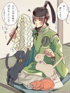 【刀剣乱舞】猫と戯れる石切丸