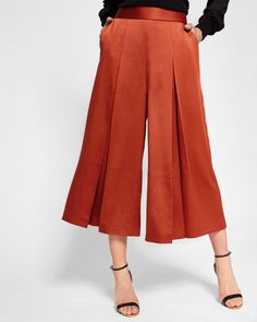 Ted Baker Pleated culottes Brick Red