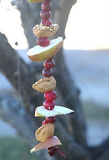 Bird Feeder (can make nut free with shortening or suet instead of peanut butter)