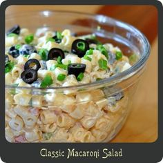 Classic Macaroni Salad—Summer is almost here! Save this for those upcoming BBQs! I haven't had a good macaroni salad in a long time maybe this will be the one!!???