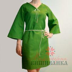 """Сукня під вишивку """"Україночка"""" зелена"""