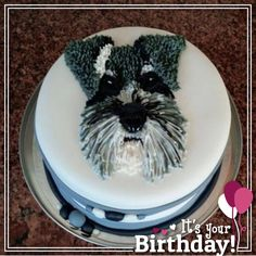 We celebrated a special Moms birthday with a very special cake made to resemble her own Schnauzer thanks Trudi Badenhorst for the amazing work!