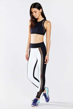 Blue Life Fit Silhouette Contrast Legging - Urban Outfitters