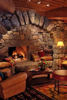 Pillows next to the fireplace? Lake Placid Lodge Lake Placid, New York duplicate living room property Fireplace home cottage log cabin farmhouse hearth Home Fireplace, Fireplace Design, Fireplace Seating, Fireplace Ideas, Basement Fireplace, Inglenook Fireplace, Small Fireplace, Fireplace Hearth, Lake Placid Lodge
