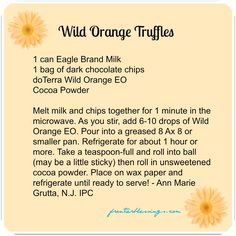wild orange truffle recipe, doterra